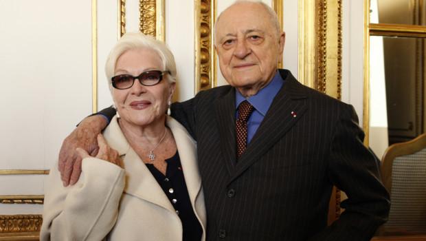 Line Renaud et Pierre Bergé.