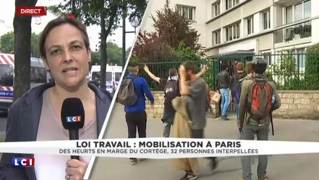 Loi Travail : des manifestants font face aux forces de l'ordre en amont du cours de Vincennes
