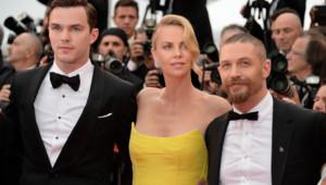 Nicholas Hoult, Charlize Theron et Tom Hardy à Cannes le 14 mai 2015