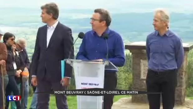 """Au Mont Beuvray, Arnaud Montebourg appelle à construire un """"grand projet"""" pour la France"""