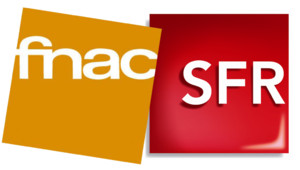 Les logos de la Fnac et de SFR.
