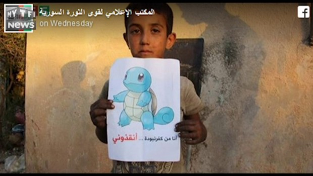 Syrie : des enfants utilisent des dessins de Pokémon pour demander de l'aide