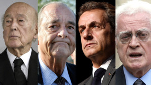 Valéry Giscard d'Estaing, Jacques Chirac, Nicolas Sarkozy et Lionel Jospin.