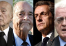 Valéry Giscard d'Estaing, Jacques Chirac, Nicolas Sarkozy et Lionel Jospin.