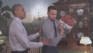 Obama Curry NBA Capture