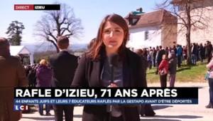 Rafle d'Izieu : une minute de silence et un hommage des collégiens lors de la cérémonie
