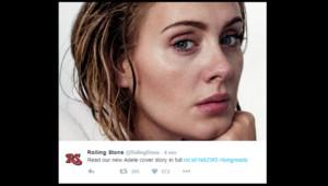 Adele en Une de Rolling Stone en novembre 2015.