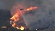 De violents incendies dans le sud de la France, le 10/08/16