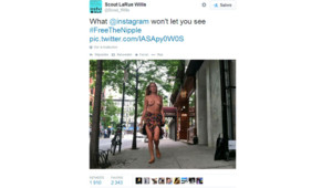 Scout Willis, fille de Bruce Willis et Demi Moore, s'est affichée seins nus dans les rues de New York pour protéster contre la censure des réseaux sociaux.