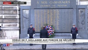 La minute de silence de Hollande, un an après l'attentat de Charlie Hebdo