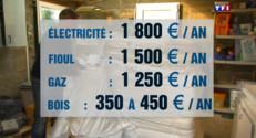 Le 13 heures du 3 mars 2015 : Fioul, gaz, électricité… Le chauffage combien ça coûte par an ? - 848.3797578125