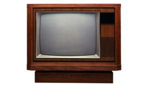 Une vieille télévision.