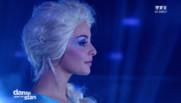 Priscilla en Reine des neiges sur le plateau de Danse avec les stars