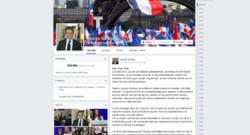 sarkozy Facebook page annonce retour
