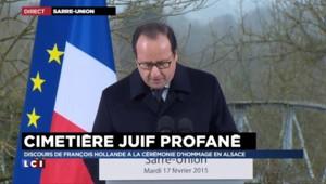 """Hollande à Sarre-Union : """"Un sentiment de honte que la France ait à supporter une telle blessure"""""""