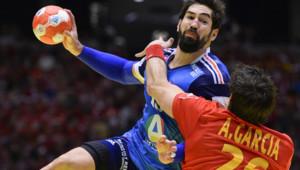 Nikola Karabatic pendant la demi-finale de l'Euro de handball le 24 janvier 2014
