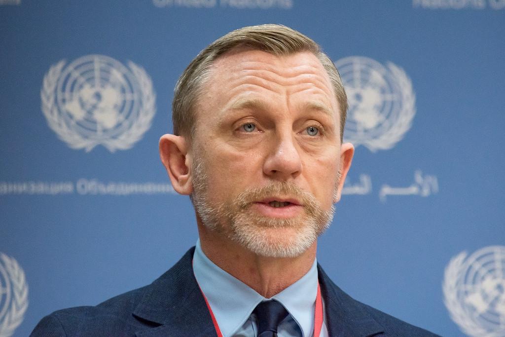Daniel Craig à l'ONU le 4 avril 2016