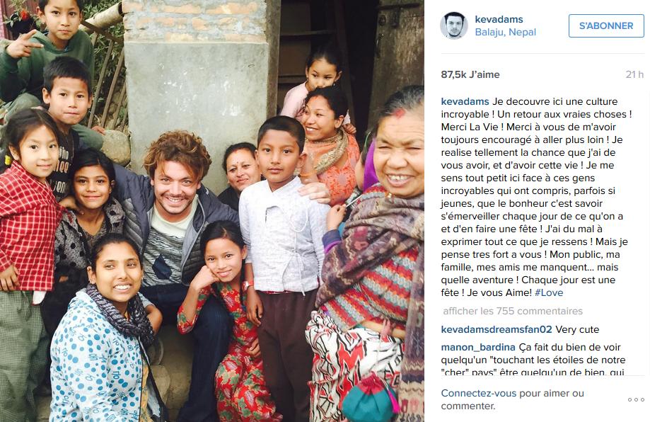 Kev Adams en voyage au Népal parle de son aventure incroyable à ses fans