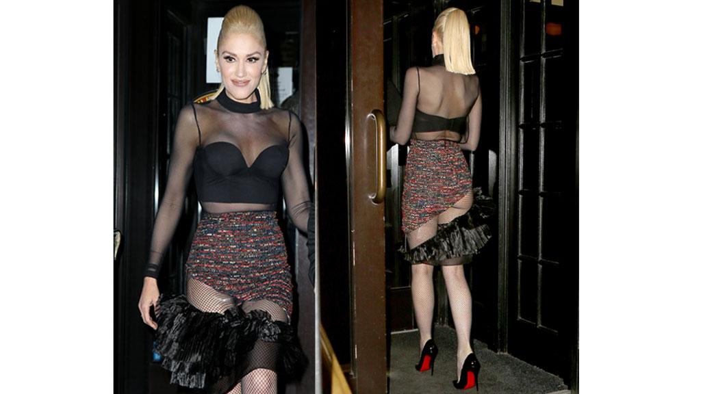 Gwen Stefani dévoile son anatomie lors d'une soirée à New York